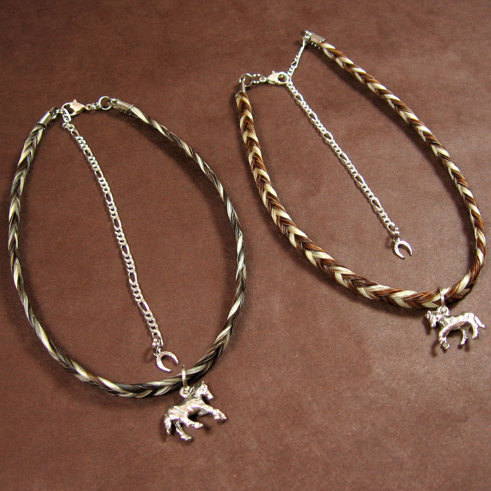Two-Tone Woven Choker with Charm