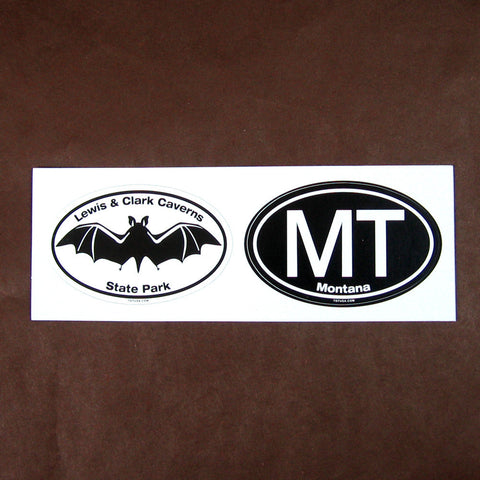Lewis and Clark Caverns Bat and Montana Icon Twin Oval