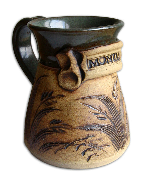 Green Montana Mug by Mountain Brook Studio