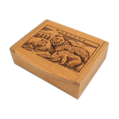 Grizzly Single Deck Card Box