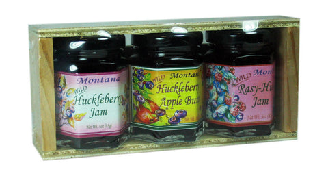 Assorted Huckleberry Jams Gift Crate
