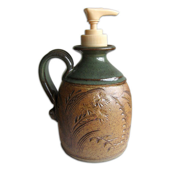 Green Pump Pot with Handle