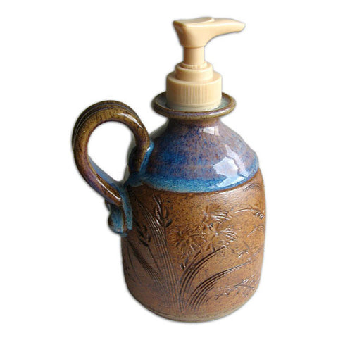 Midnight Blue Pump Pot with Handle