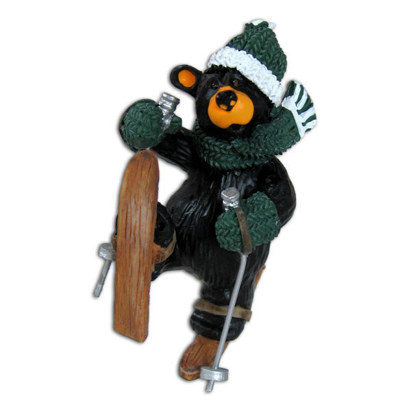 Bearfoots Ski Tumble Ornament by Big Sky Carvers