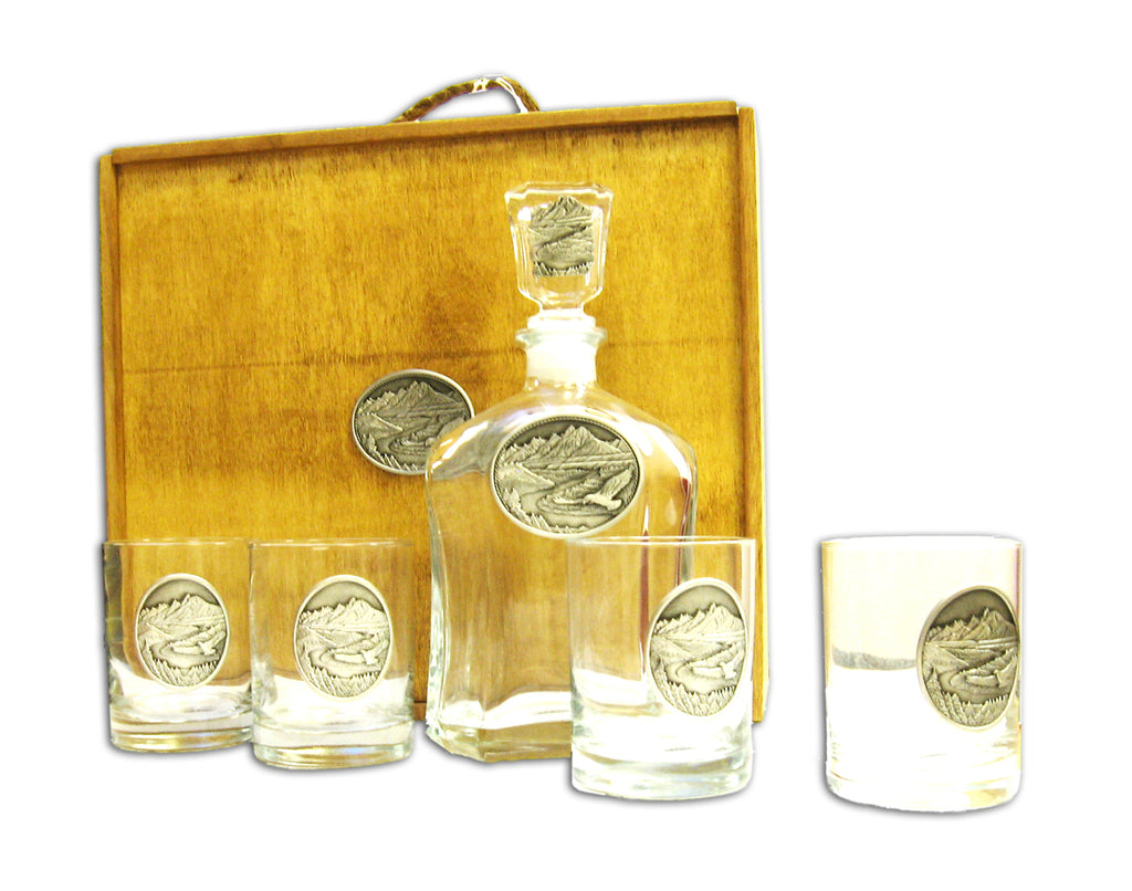 Snake River Decanter Set by Heritage Metalworks