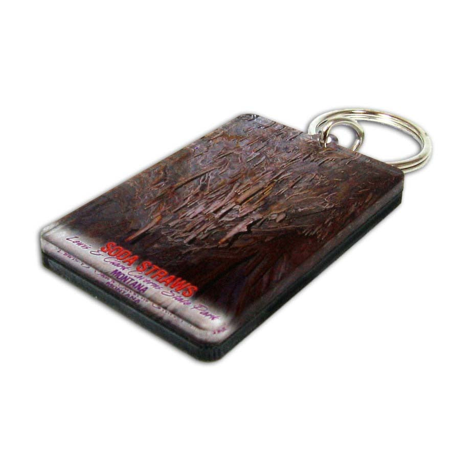 Lewis & Clark Caverns Vertical Soda Straws Key Chain