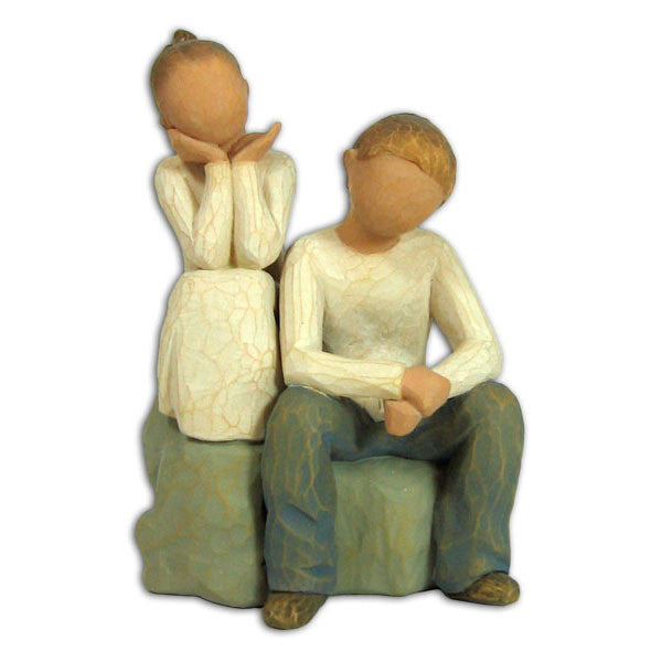 Brother and Sister Willow Tree Figurine by Susan Lordi