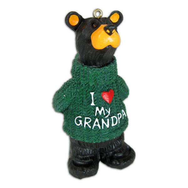 "Bearfoots ""I Love Grandpa"" Ornament by Big Sky Carvers"
