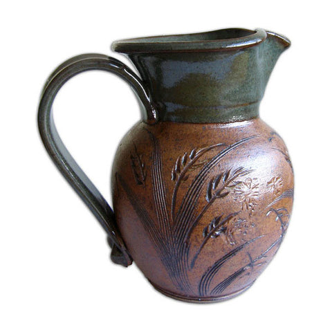 Green Round Quart Pitcher