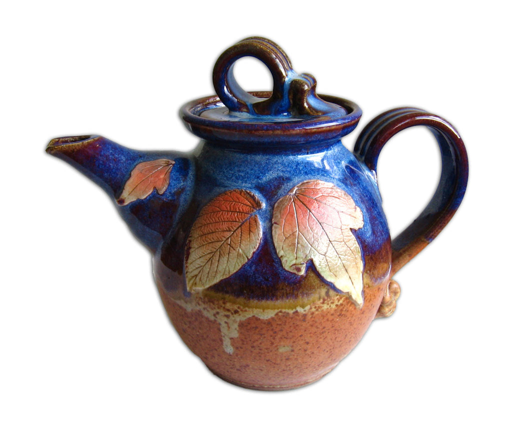 Indian Summer Blue Teapot by Mountain Brook Studio