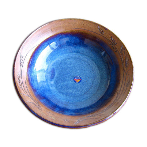 Large Blue Pasta Bowl