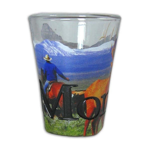 Montana Etched Shotglass