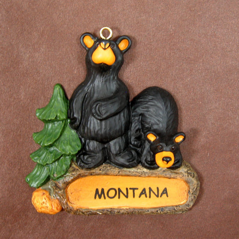 Boulder Cubs Bearfoots Montana Ornament by Jeff Fleming