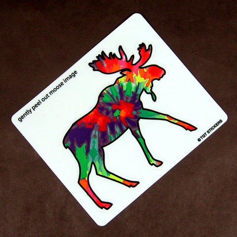 Tie Dye Moose Montana Sticker
