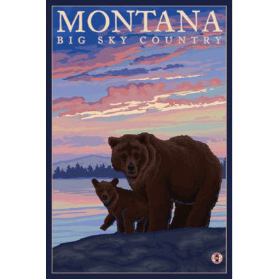 Bear and Cub Montana Key Chain