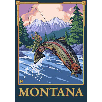 Fly Fishing Scene Montana Key Chain