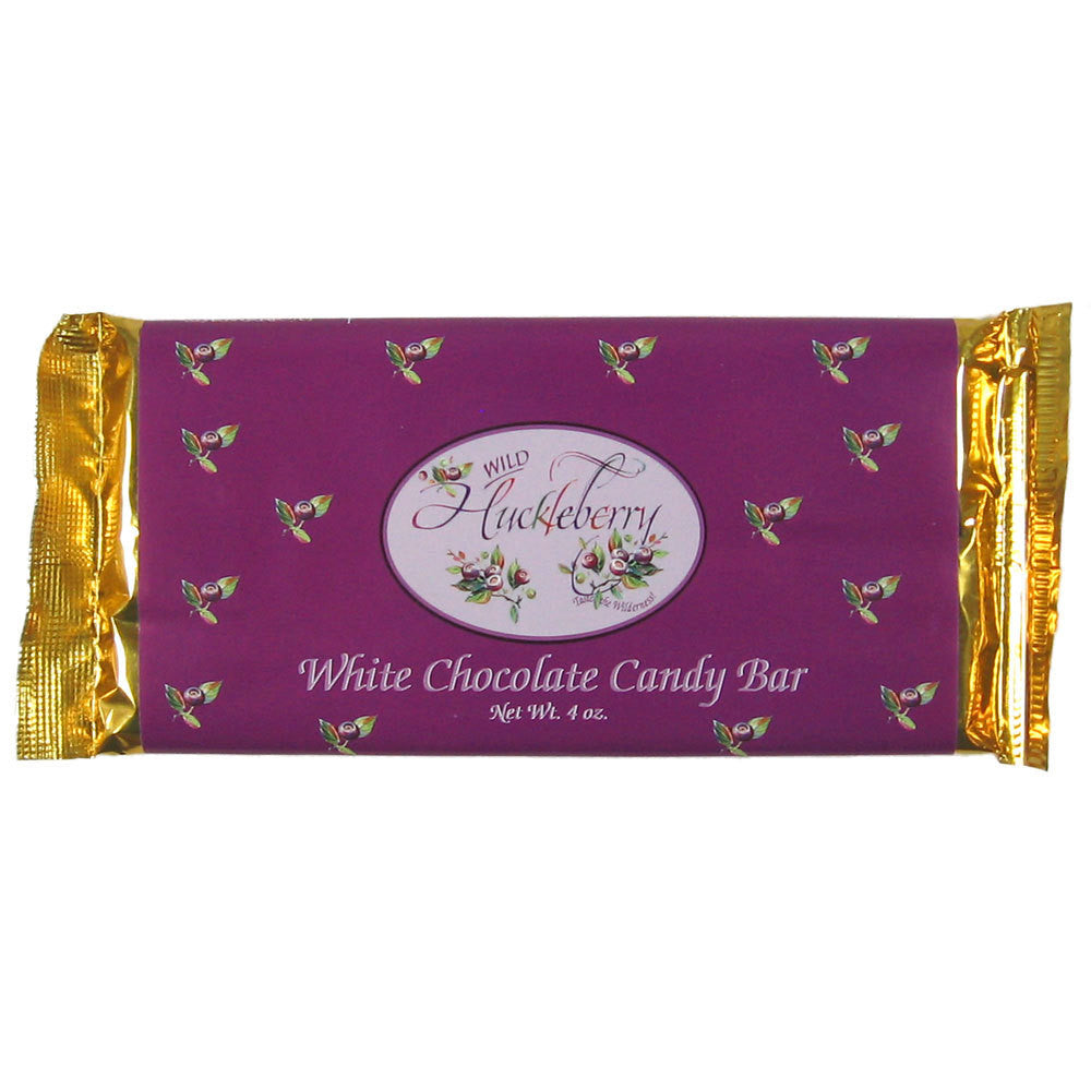 Huckleberry White Chocolate Candy Bar