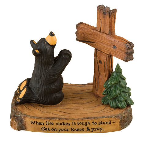 "Bearfoots ""Pray Bear"" by Big Sky Carvers"