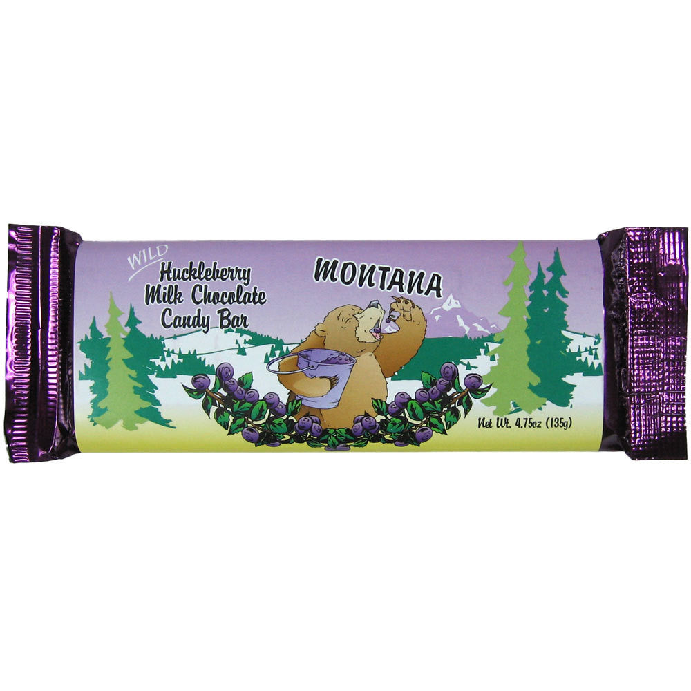 Huckleberry Milk Chocolate Candy Bar