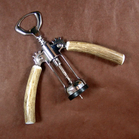 Antler Double Handled Cork Screw by High Country Arts