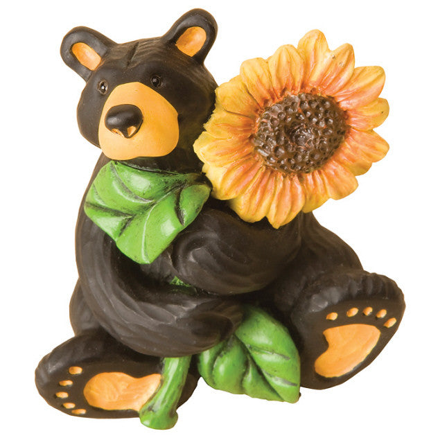 Bearfoots Sunflower Bear Mini Figurine by Big Sky Carvers