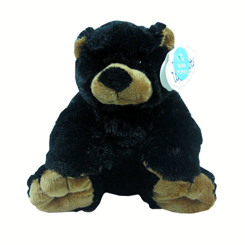 "9"" Black Bear Hand Puppet by Wishpets"
