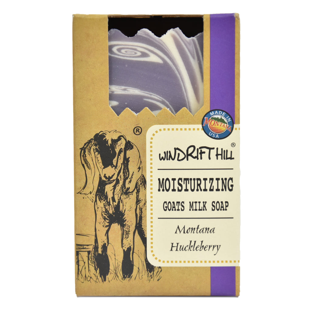 Huckleberry Goat's Milk Soap by Windrift Hill