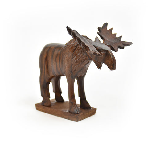 Mini Moose Ironwood Carving by Earthview Inc.