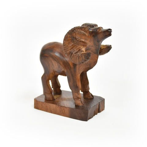 Mini Big Horn Sheep Ironwood Carving by EarthView Inc.