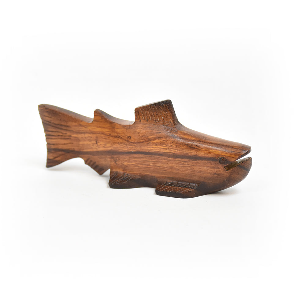 Mini Trout Ironwood Figurine by EarthView Inc.
