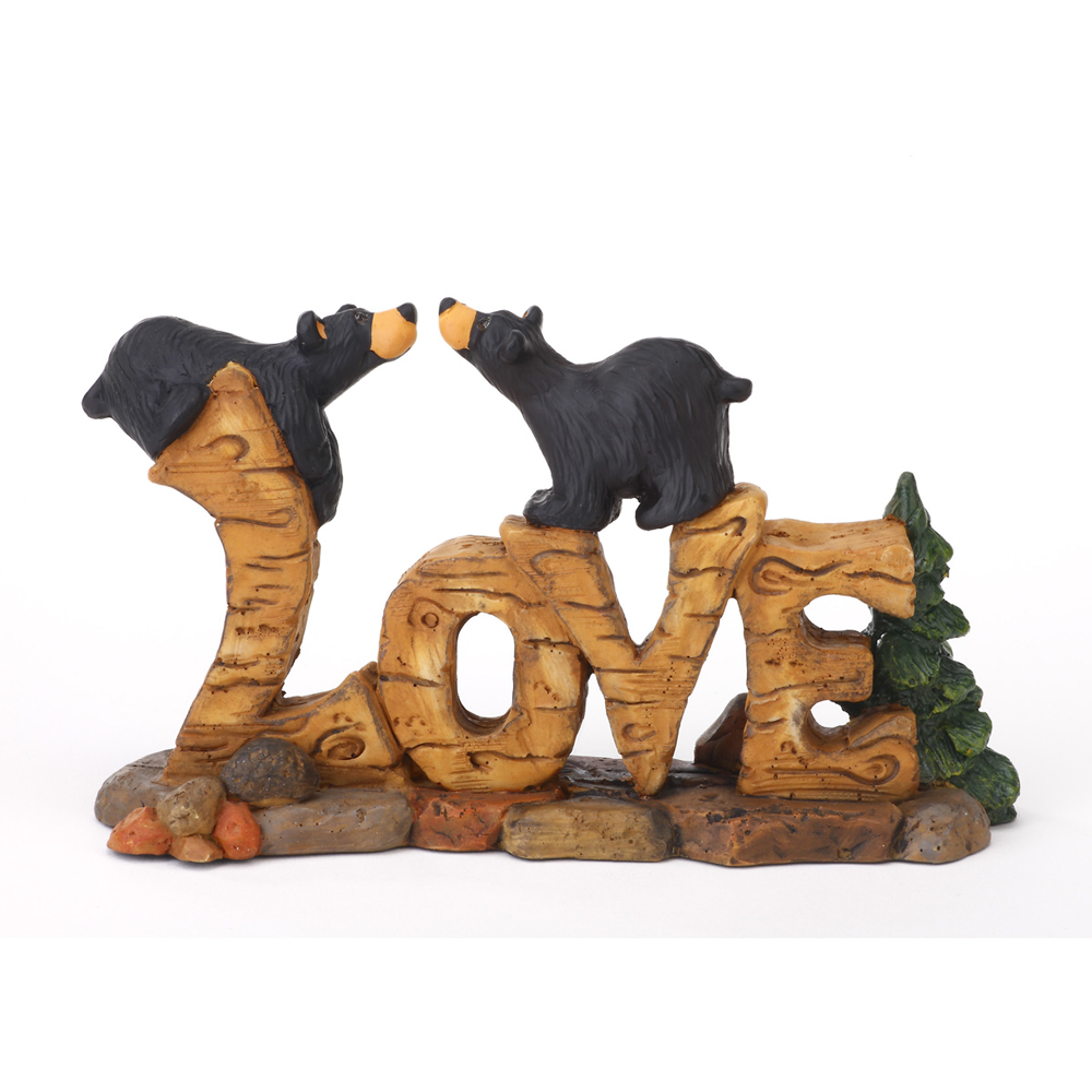 Bearfoots Love Bears Figurine by Big Sky Carvers