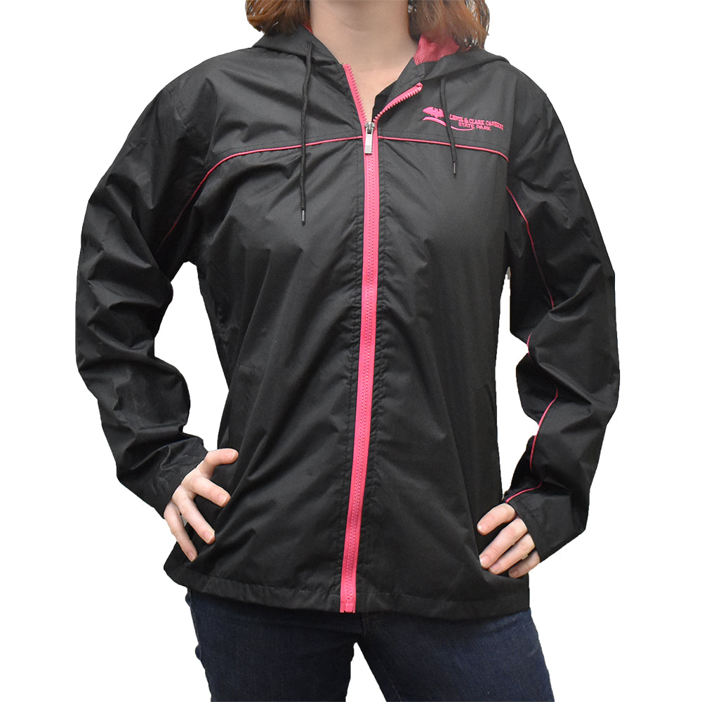 Black and Raspberry Lewis and Clark Caverns Cruise Jacket  by Prairie Mountain at Montana Gift Corral