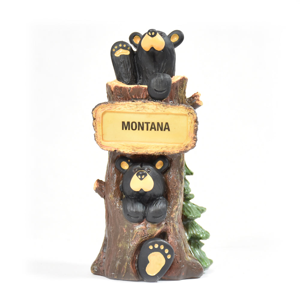 Bearfoots Bears Two Story Tree House Montana Figurine by Jeff Fleming