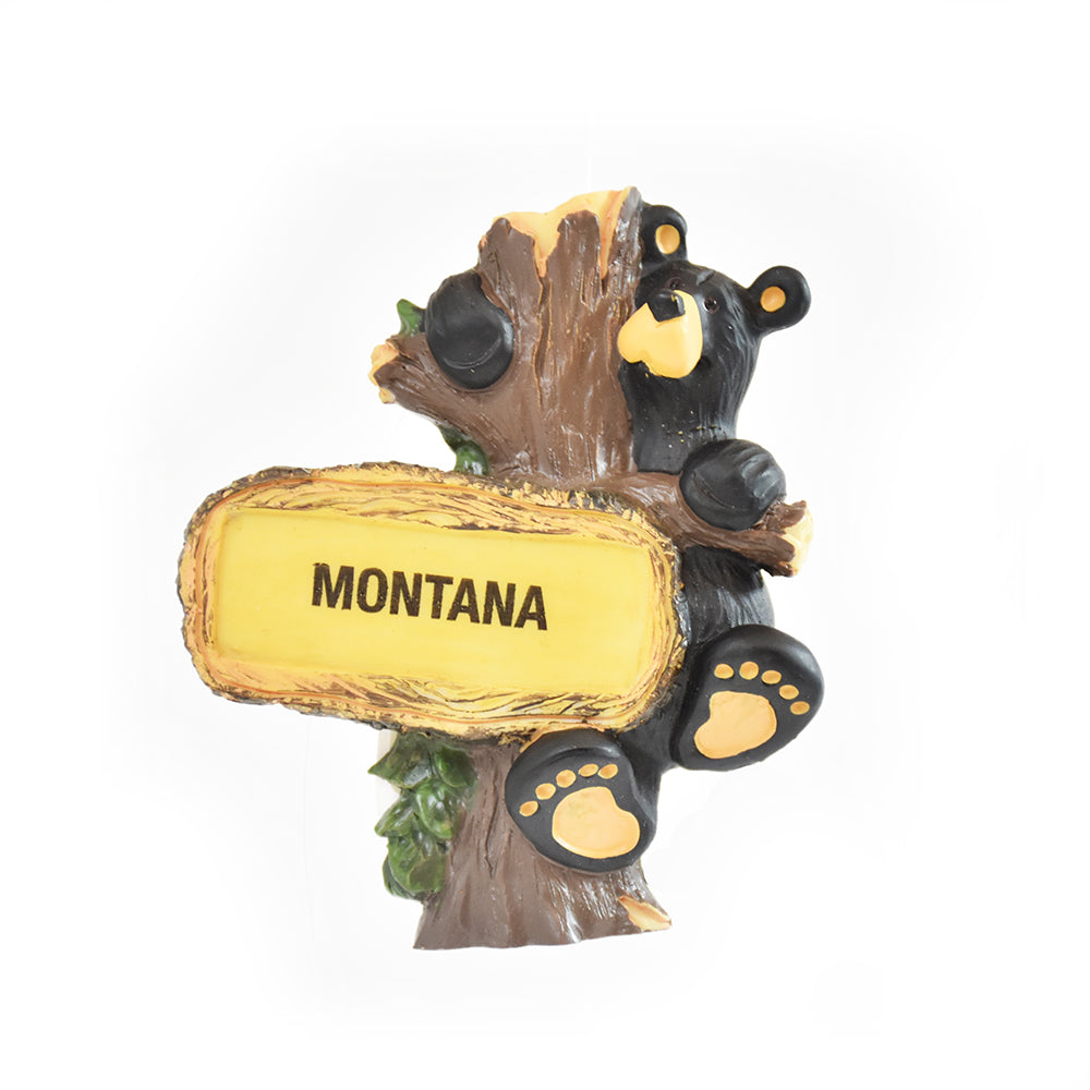 Bearfoots Bears Hanging Out Montana Magnet by Jeff Fleming