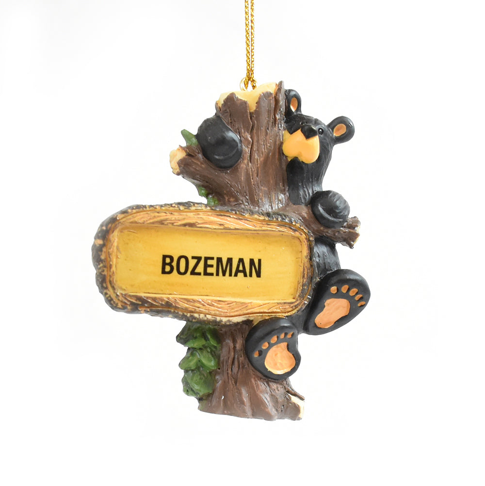 Bearfoots Bears Hanging Out Bozeman, Montana Christmas Ornament by Jeff Fleming