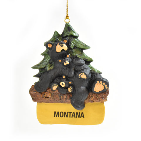 Bearfoots Lounging Bear Montana Christmas Ornament by Jeff Fleming and Big Sky Carvers at Montana Gift Corral
