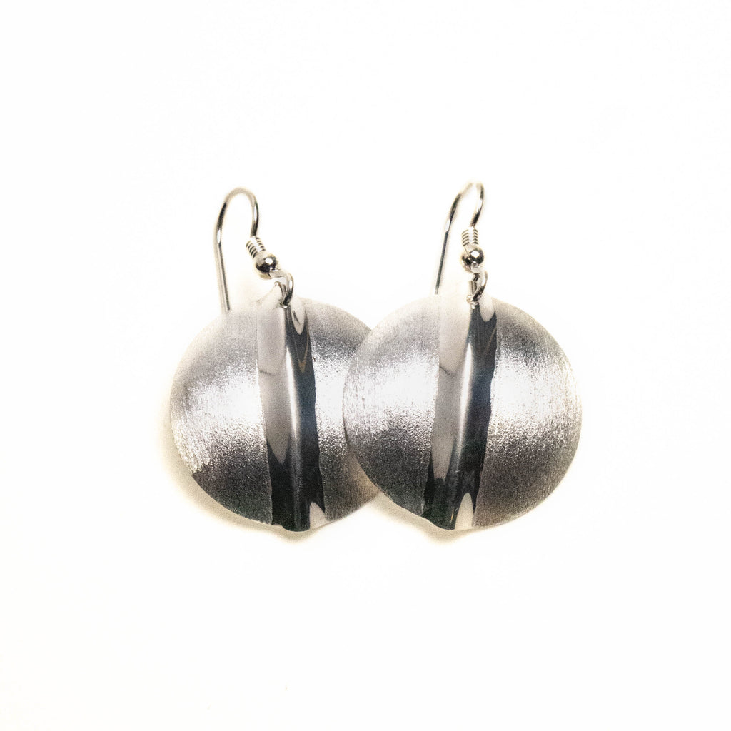 Sterling Silver Circular Earrings by Sam Ferraro