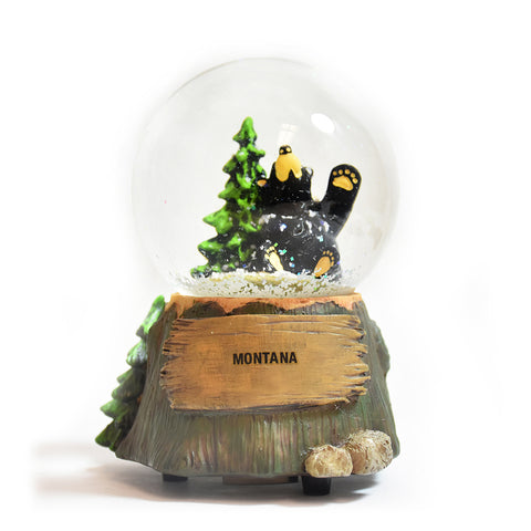 Bearfoots Bears Montana Bear Snow Globe by Jeff Fleming at Montana Gift Corral