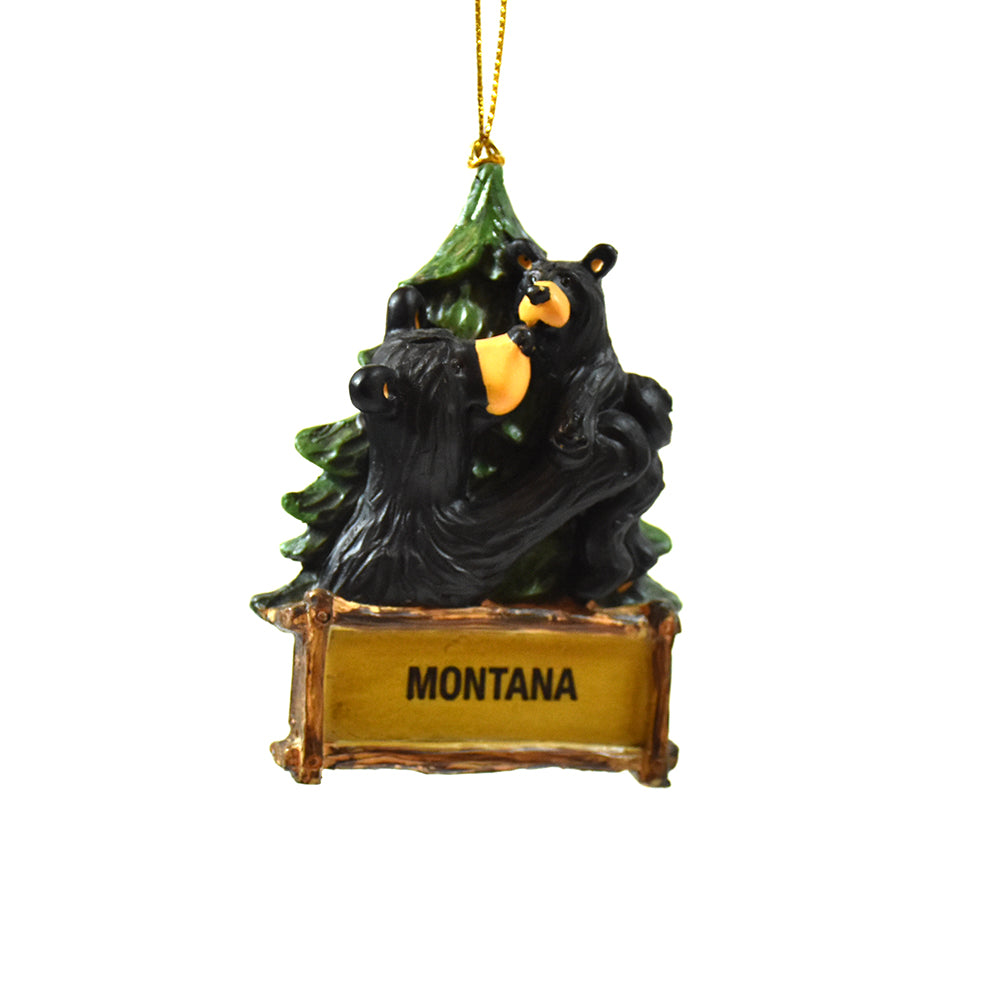 Montana Welcome Baby Bear Ornaments