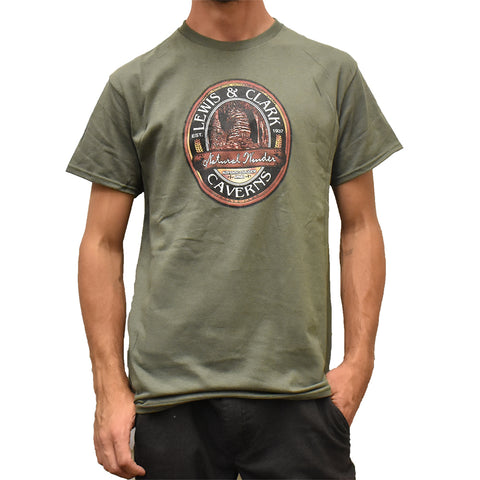 Lewis and Clark Caverns State Park Always Smooth Cave T-Shirt at Montana Gift Corral by Prairie Mountain