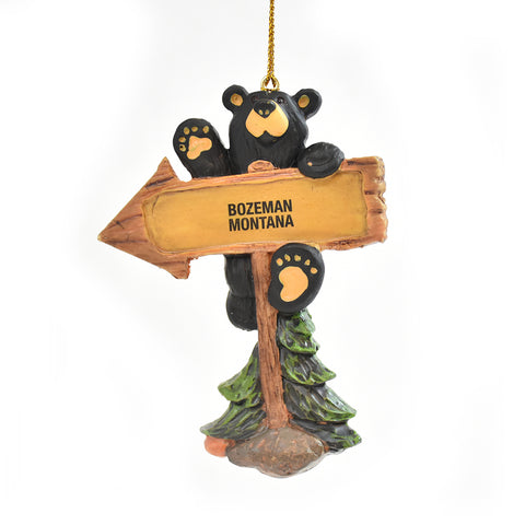 Bearfoots Bears This Way to Fun Bozeman Montana Christmas Ornament by Jeff Fleming