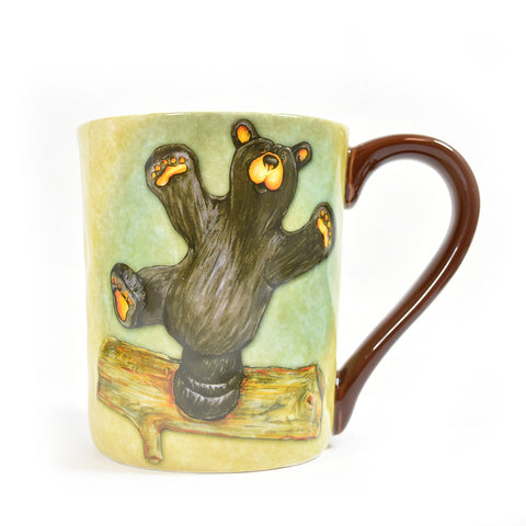 Front Bearfoots Happy Montana Bear Mug by Jeff Fleming and Big Sky Carvers at Montana Gift Corral