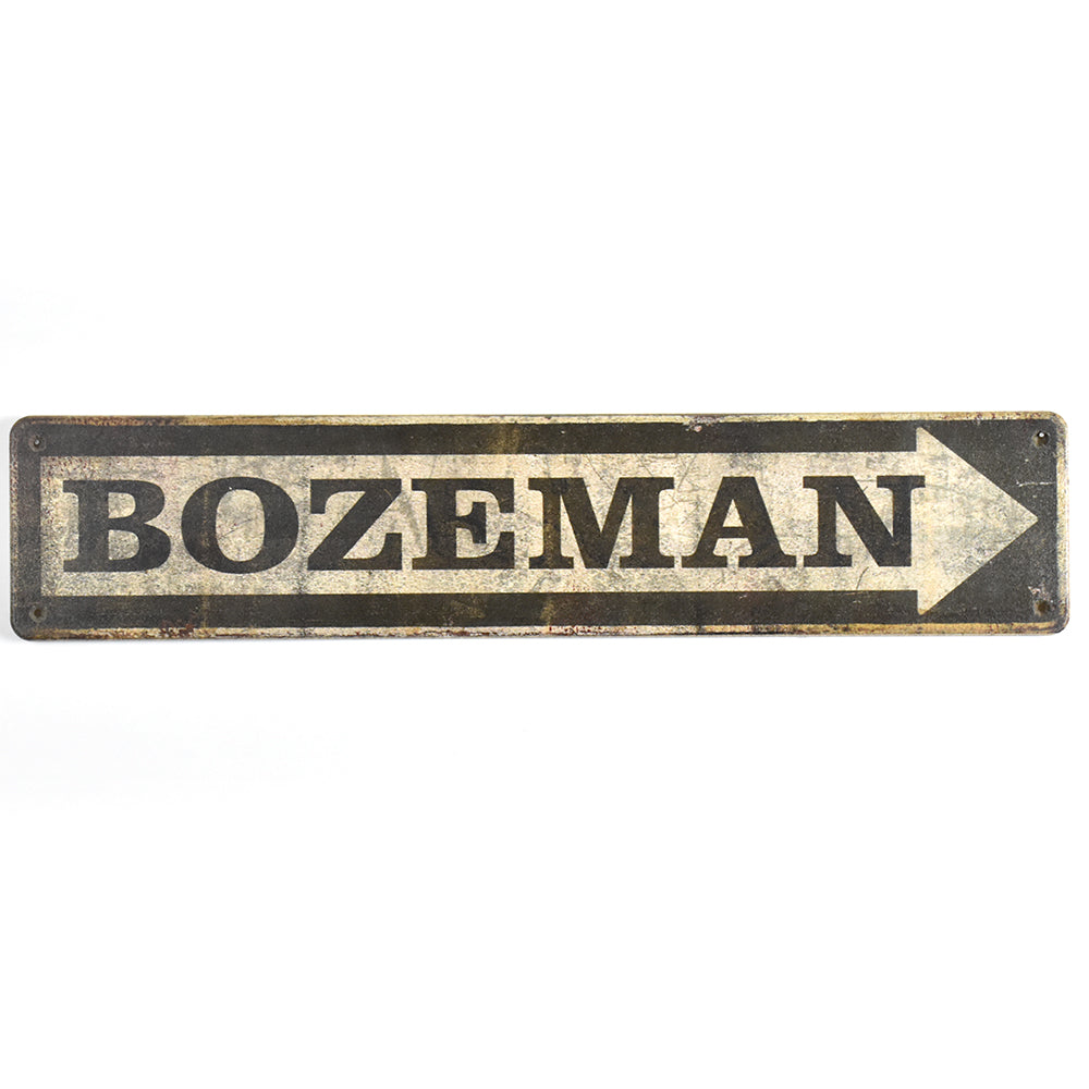 Bozeman Arrow Street Sign by Meissenburg Designs at Montana Gift Corral