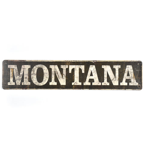 Matchbook Montana Street Sign by Meissenburg Designs at Montana Gift Corral