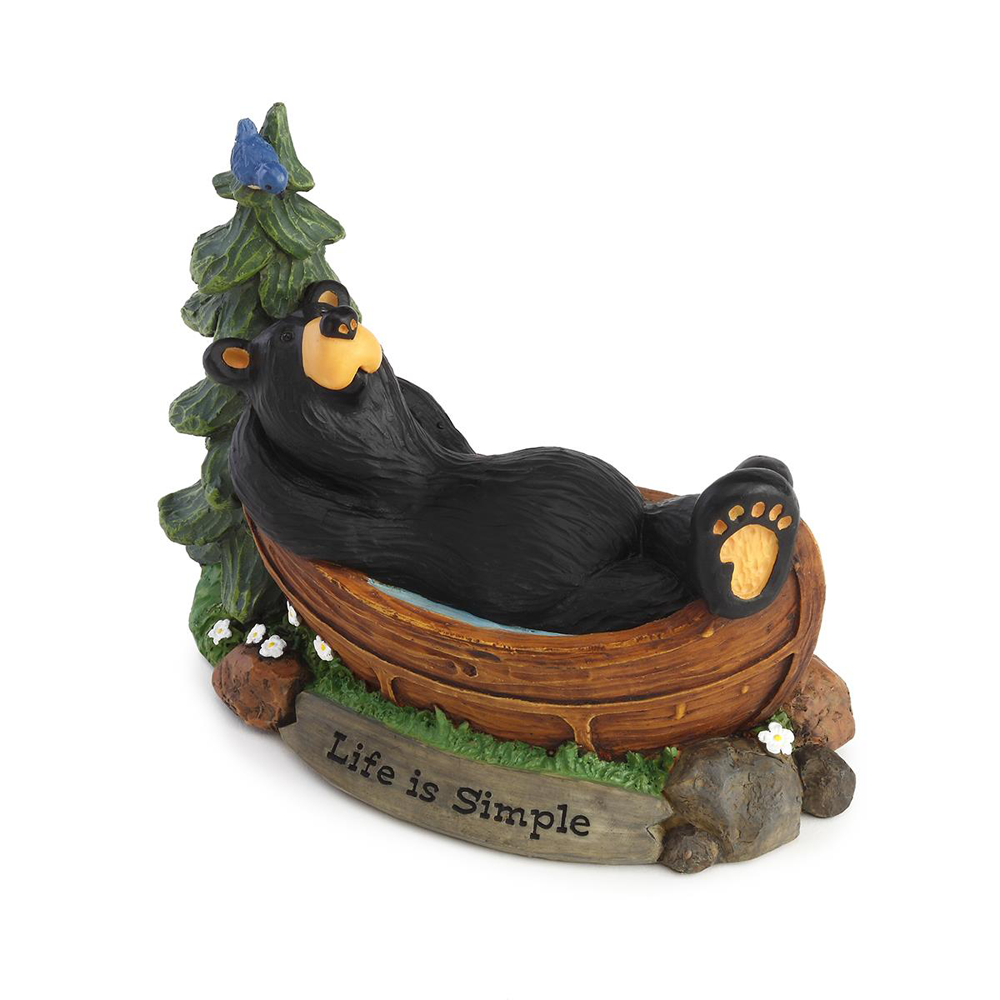 Bearfoots Life is Simple Bear Figurine by Big Sky Carvers