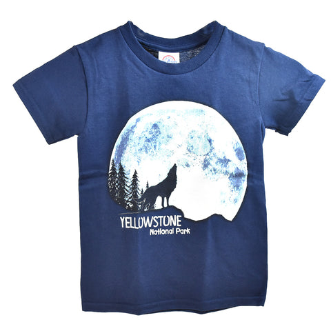 Navy Undetected Wolf Youth T-Shirt
