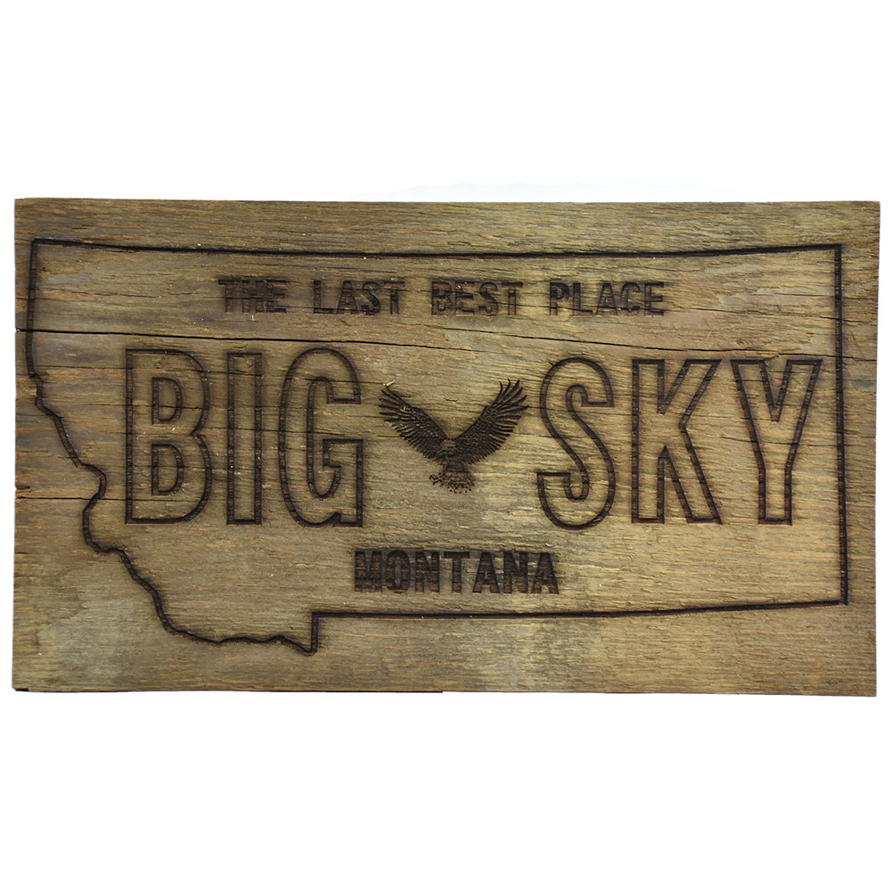 Big Sky Montana License Plate Sign by Bridger Laser Designs