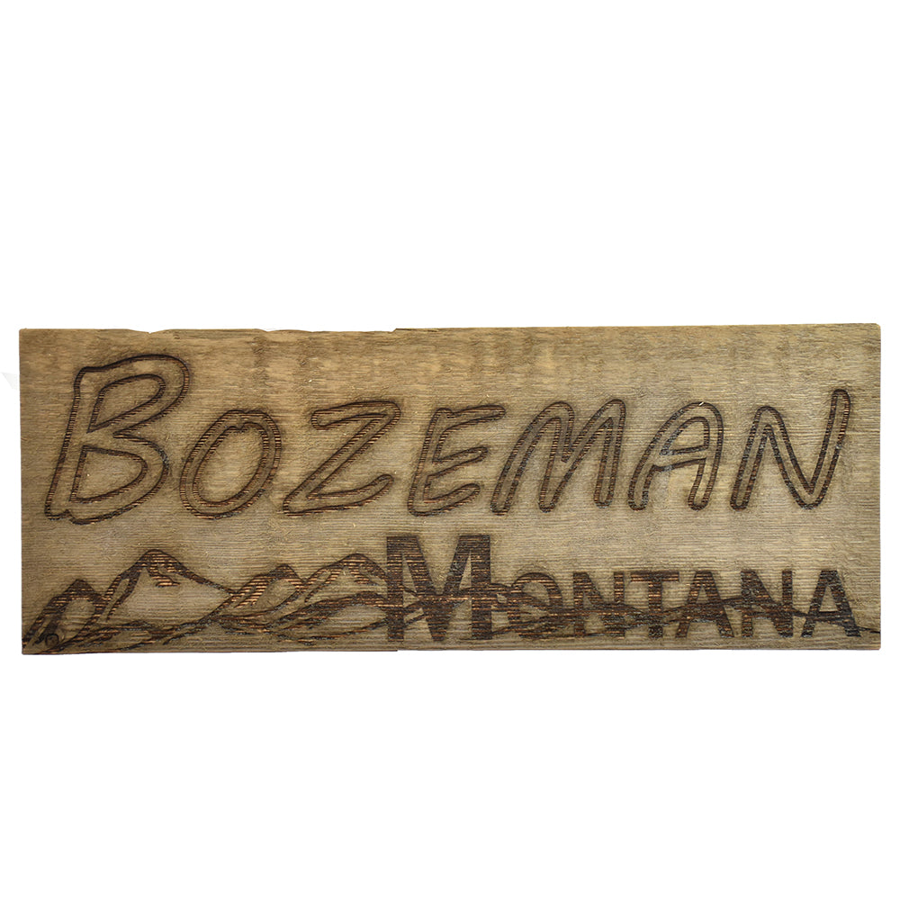 Bozeman Montana Mountain Sign by Bridger Laser Designs