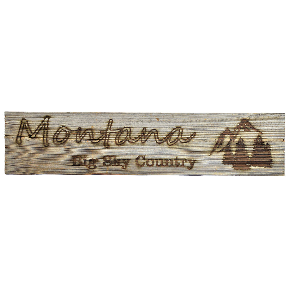 Montana Big Sky Country Wide Sign by Bridger Laser Designs