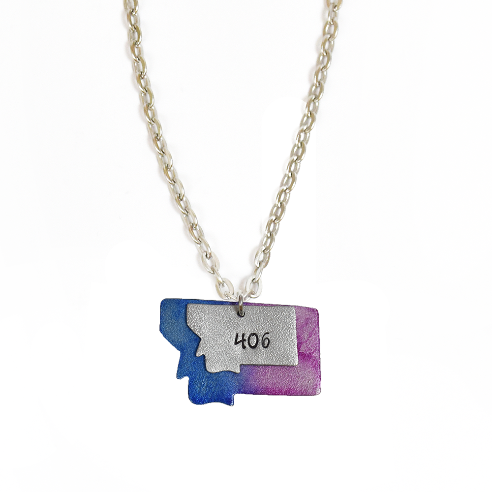 Purple 406 Double Montana Necklace by Adam Hegreberg